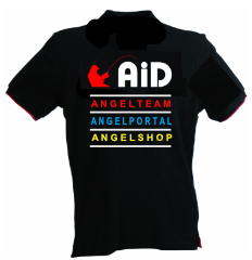Webcom Marketing - Textilbestickung - Poloshirt Rückseite AiD Angelportal